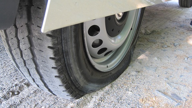 a punctured tyre